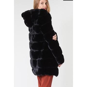 Ralph Lauren sztuczne futerko płaszcz czarny M/L