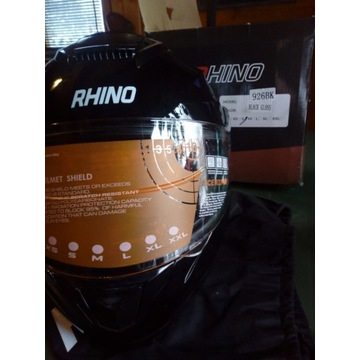Kask Rhino model 926BK Black Gloss rozm. S