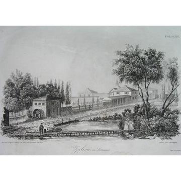 1836 ORYGINAŁ ZALESIE KRESY pałac park OGIŃSCY