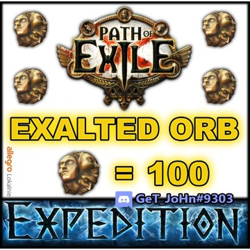 100 EXALTED ORB PATH OF EXILE EXPEDITION POE [PC]