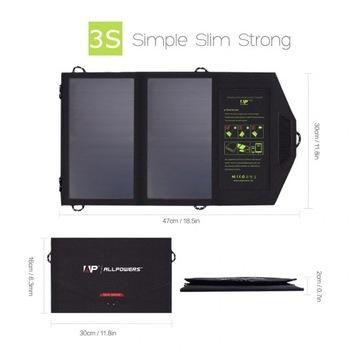 Panel solarny turystyczny 5V 14w 5V14W USB
