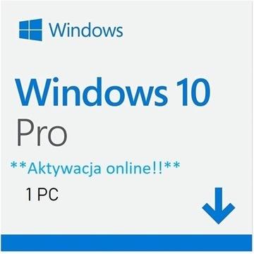Microsoft Windows 10 Pro Professional KLUCZ PL