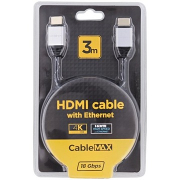 Kabel HDMI 2.0 PREMIUM 4K Full HD 3D przewód 3M
