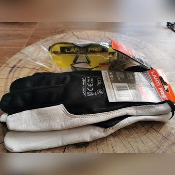 Lahti PRO okulary kontrast rękawice skóra rozm 10