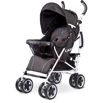 Wózek spacerowy Caretero Spacer Black Nowy