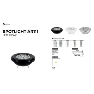 ŹRÓDŁO ŚWIATŁA LED ŻARÓWK AR111 850lm 10,5W G53