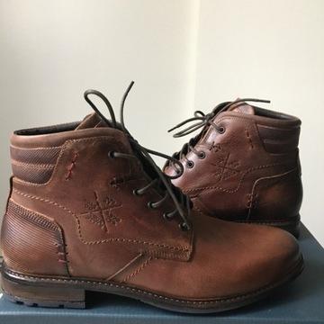Pier One botki sztyblety 43 męskie skórzane buty