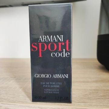 Armani Code Sport 50ml ! Unikat