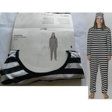 strój więźnia więzień kostium Dorosły przebranie