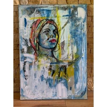 Obraz ręcznie malowany na płótnie. 50x70