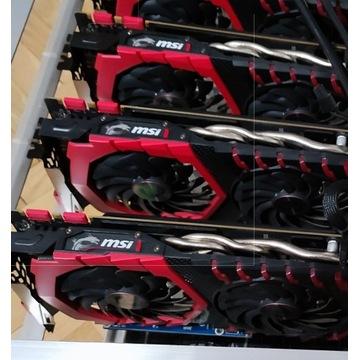 Koparka Kryptowalut - 6 x MSI 1070 8GB 160MH/s