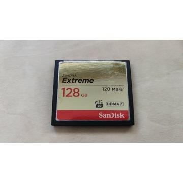 Karta CF 128GB sandisk extreme UDMA 7 120MB okazja