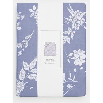 Pościel bawełniana niebieska DELICATE 200x220