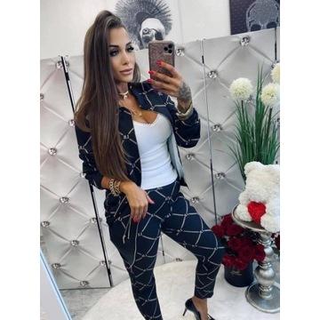 spodnie + bomberka łańcuszki Lola Bianka S/M