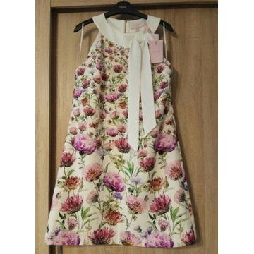 Ted Baker sukienka trapezowa kwiaty rozmiar 42