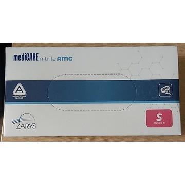 Rękawice nitrylowe mediCARE 200 szt. niebieskie S