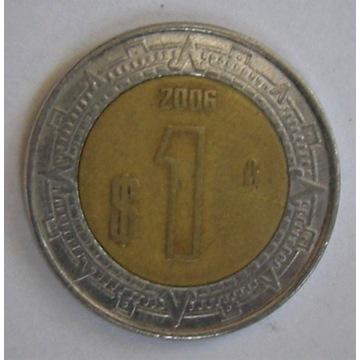 1 pesos Meksyk 2006