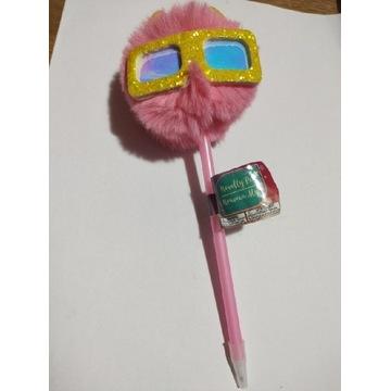 Długopis Kot w okularach futrzak z USA czarny