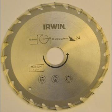 piła tarczowa IRWIN 184x30 24z widia