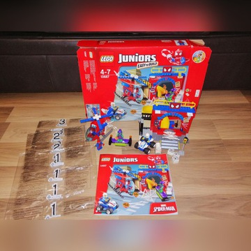 Lego Juniors 10687 Kryjówka Spidermana. OPIS.