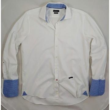 Tommy Hilfiger - Koszula męska -43 - XL- na spinki