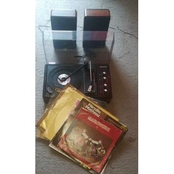 Gramofon Bruns + głośniki ( kolumny ) i płyty