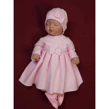 Sukienka Jadwisia różowa rozmiar 74