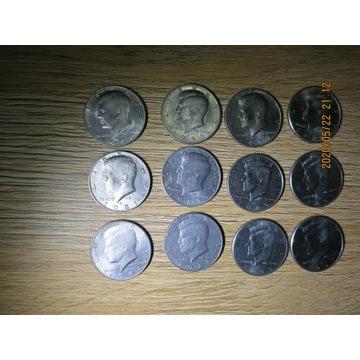 USA lot 12 x 1/2  dolara Kienedy 1980-2000