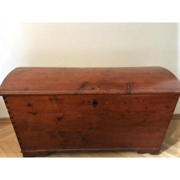 kufer skrzynia np na pościel - drewno 127 x 60