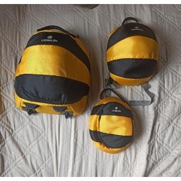 Walizka plecak i kosmetyczka littlelife
