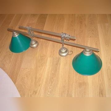 Lampa Bilardowa, 2- kloszowa, złoty pałąk