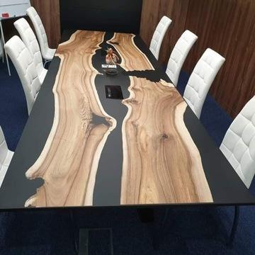 Stół konferencyjny 300x100cm żywica epoksydowa