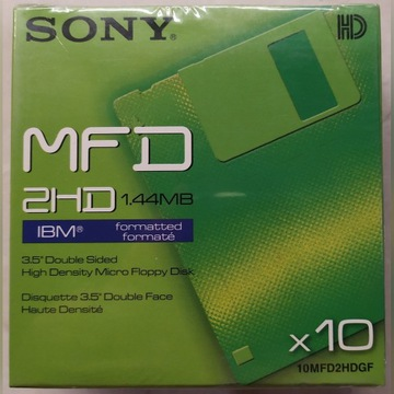Dyskietki SONY MFD 2HD disp 10 szt.