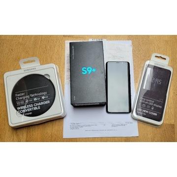 Samsung S9+ IDEALNY -nowa folia, bateria + ład.ind