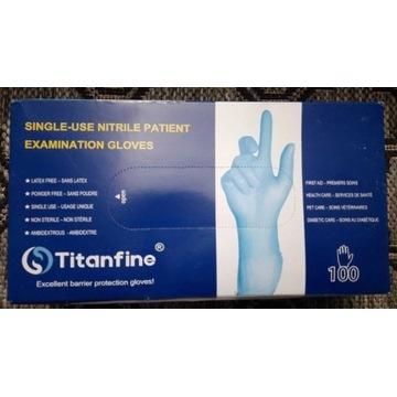Rękawiczki nitrylowe niebieskie XL 100 sztuk