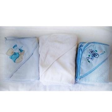 Trzy ręczniki niemowlęce / ręcznik dla niemowlaka
