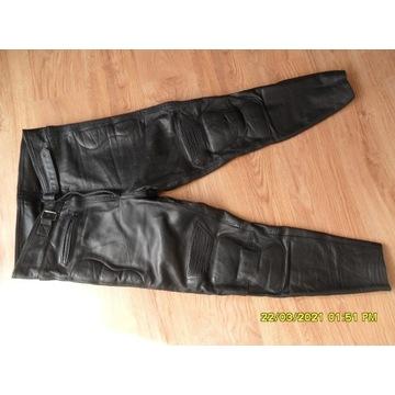 Spodnie na motor skuter skóra