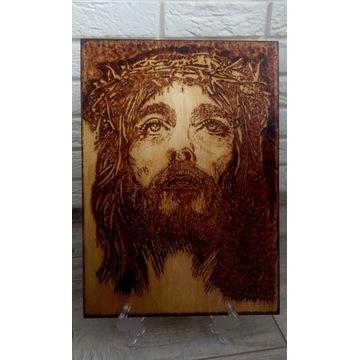 Obraz wypalany- Jezus w cierniowej koronie