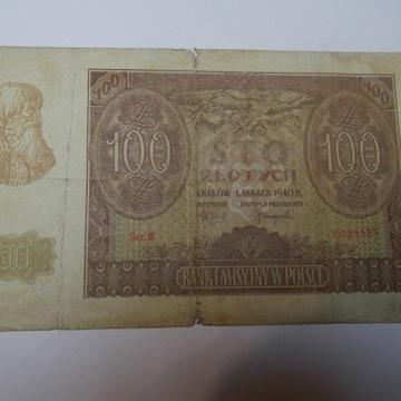 100zł 1- 03-1940rok BANK EMISYJNY W POLSCE