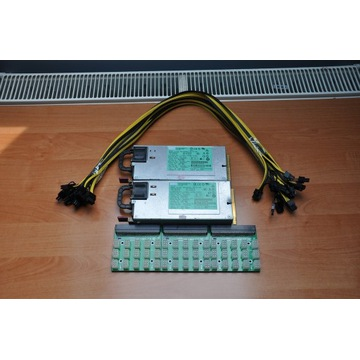 2x Dell DPS 1200W+3x breakout board +kable