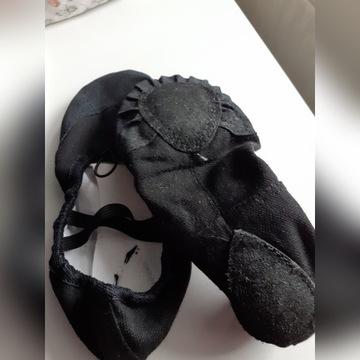 baletki bawełniane czarne rozm. 36