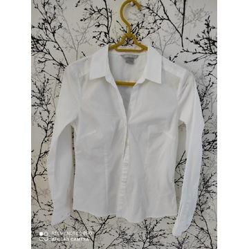 Śnieżnobiała koszula H&M S