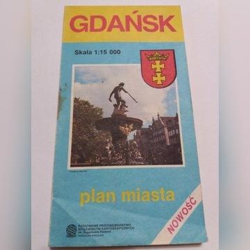 Plan miasta GDAŃSK PPWK 1988