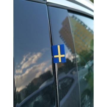 Volvo Saab naklejka flaga Szwecji