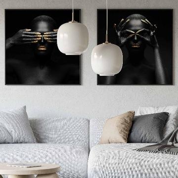 Zestaw 2 obrazów 70x70 cm / artgallery / salon