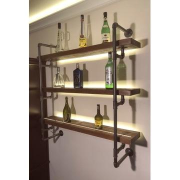 Półki półka wisząca industrialne loft metal regał