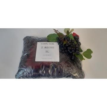 Sok z ARONII 3L % owoc