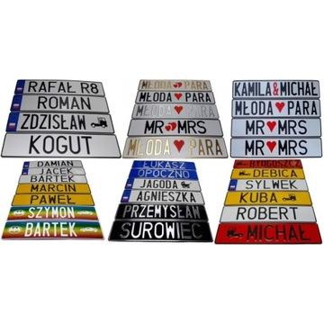 tablice rejestracyjne Twoj Napis kolor znak w 24h!