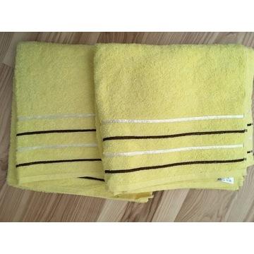 Ręczniki bawełniane komplet 2 sztuki 130x70cm Nowe