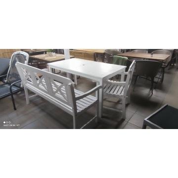 Zestaw ogrodowy (stół + 4 krzesła / stół + 2 ławy)